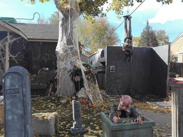 Maison décorée pour Halloween aux Etats-Unis