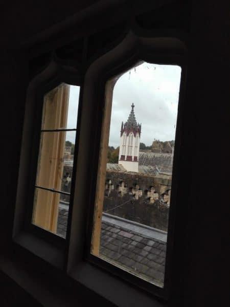 vue de la fenêtre à Manjushri