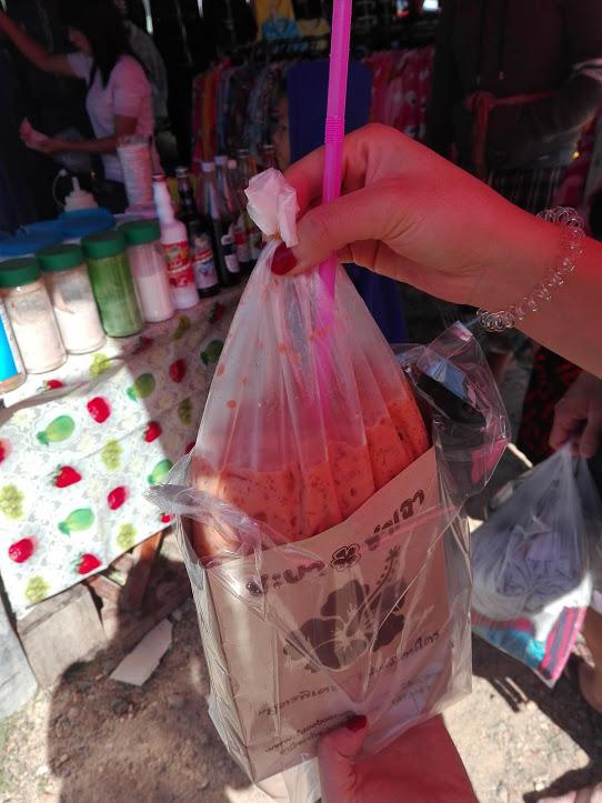 sachet nourriture Thaïlande