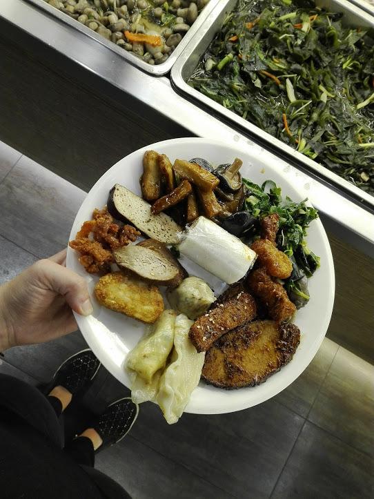 repas végétarien à Taïwan
