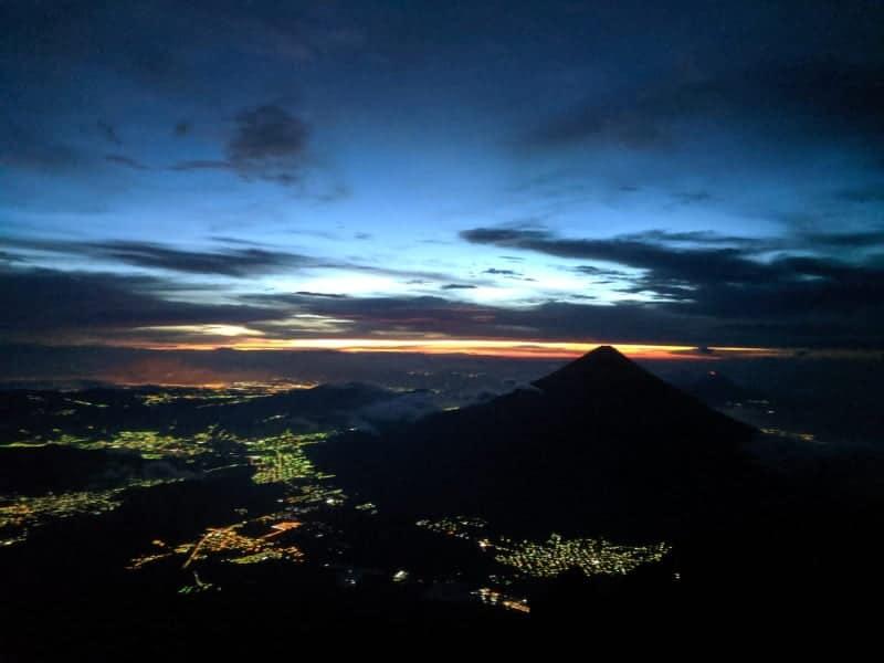 acatenango de nuit et guatemala city