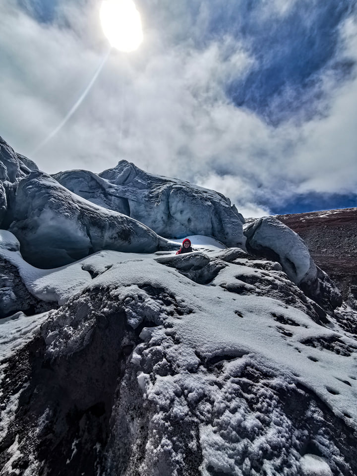 neige cotopaxi volcan