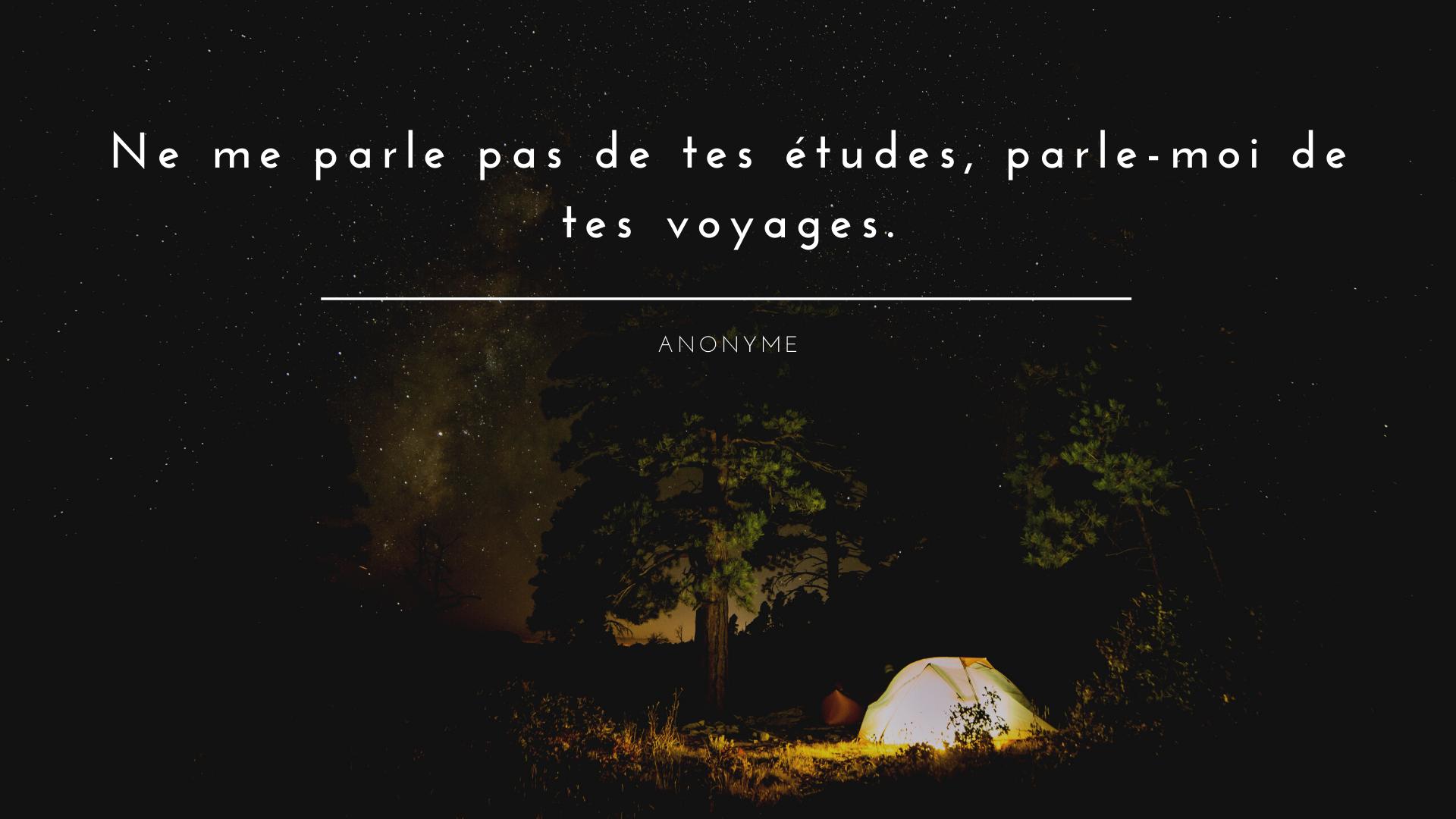 citation voyage et camping
